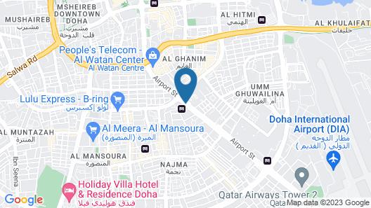 Concorde Hotel Doha Map