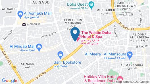 The Westin Doha Hotel & Spa Map
