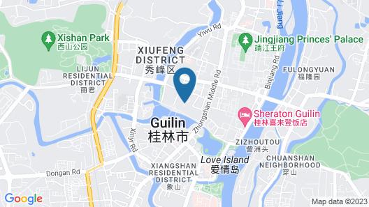 Guilin Lijiang Waterfall Hotel Map