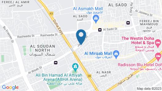 Qatar Youth Hostels Map