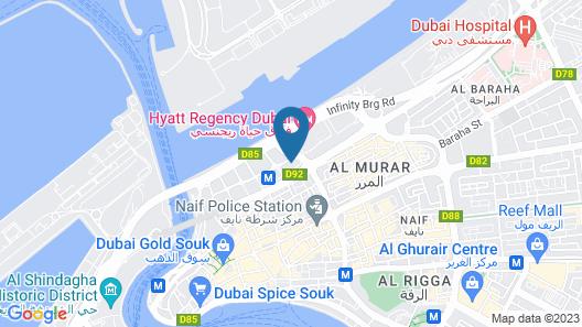 Aparthotel Adagio Dubai Deira Map