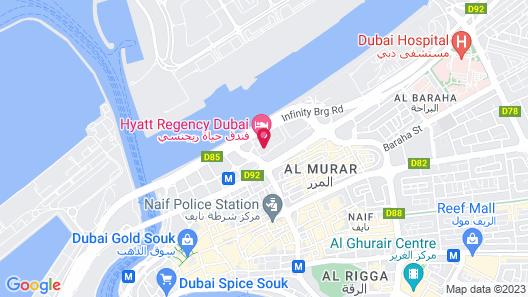 Hyatt Regency Galleria Residence Dubai Map