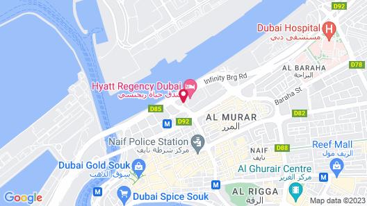 Hyatt Regency Dubai Map