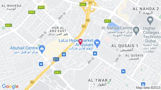 EMIRATES STARS HOTEL APARTMENTS DUBAI Map