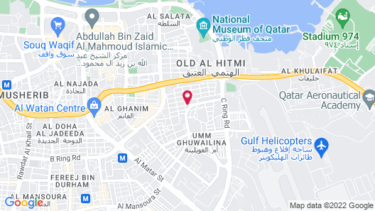 Corp Executive Hotel Doha Suites Map