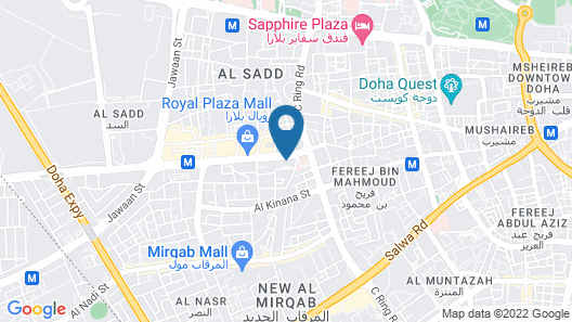 Swiss-Belinn Doha Map
