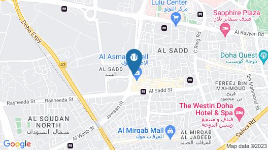 Millennium Hotel Doha Map