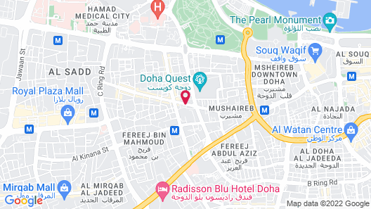Liberty Suites Doha Map