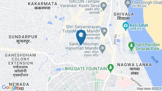 Hotel Yash Residency Assi Ghat Map