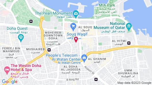 Al Najada Doha Hotel by Tivoli Map