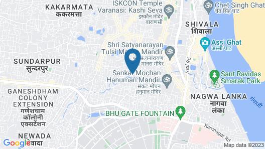 Hotel Yash Residency Assi Ghat & Bhu Map