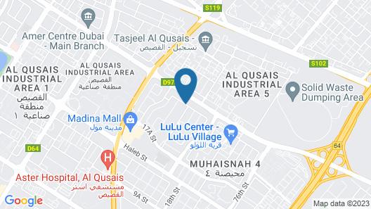 Dunes Hotel Apartments, Al Qusais Map