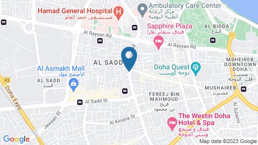 Millennium Plaza Doha Map