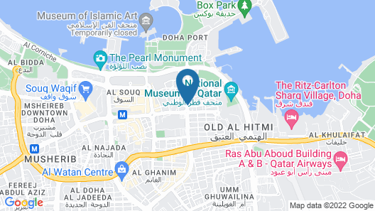 DoubleTree by Hilton Hotel Doha Old Town Map