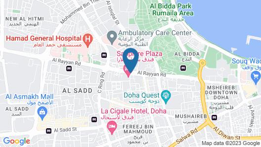 Sapphire Plaza Hotel Map