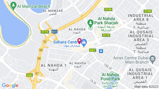 Golden Sands Hotel Sharjah Map