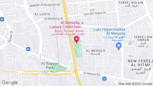 Al Messila, a Luxury Collection Resort & Spa, Doha Map