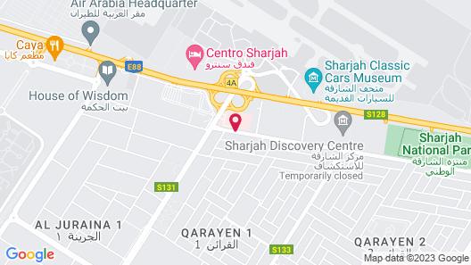 Sharjah International Airport Hotel Map