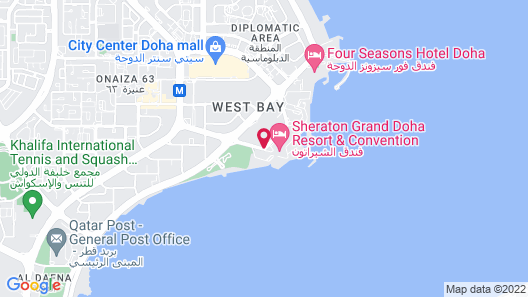Sheraton Grand Doha Resort & Convention Hotel Map