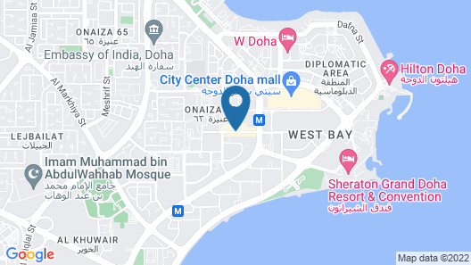 Wyndham Doha West Bay Map