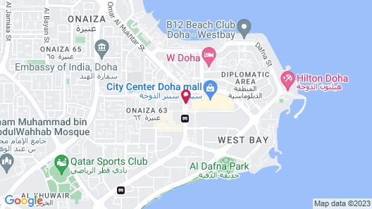 Marriott Marquis City Center Doha Hotel Map