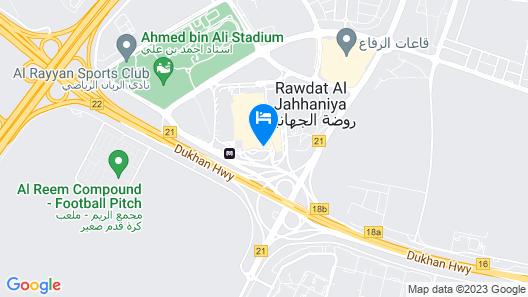 AlRayyan Hotel Doha, Curio Collection by Hilton Map