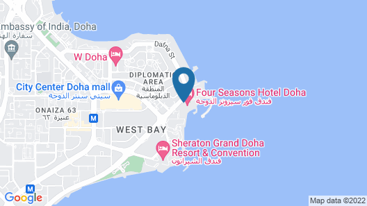 Four Seasons Hotel Doha Map