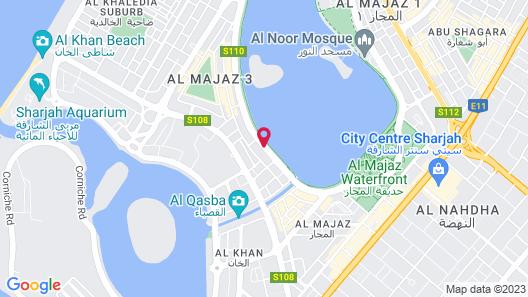 Corniche Hotel Sharjah  Map