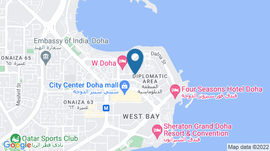 Crowne Plaza Doha West Bay Map