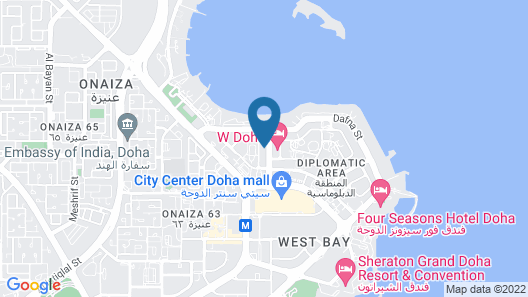 Magnum Hotel & Suites West Bay Map