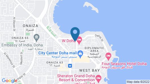 Marriott Executive Apartments City Center Doha Map