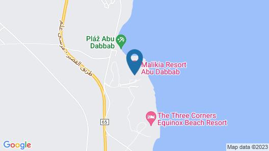Malikia Resort Abu Dabbab Map