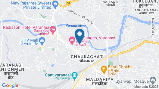 Taj Nadesar Palace,Varanasi Map