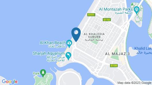 Sharjah Carlton Hotel Map