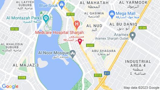 ibis styles Sharjah Hotel Map