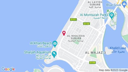 Occidental Sharjah Grand Map