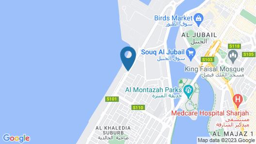 Sahara Beach Resort & Spa Map