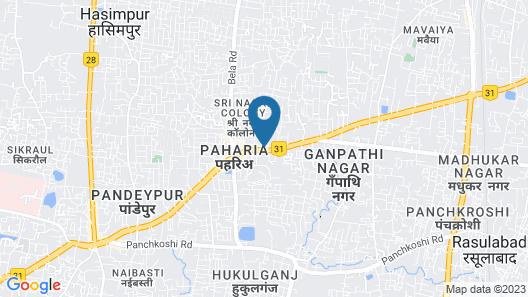 ADB Rooms Hotel Surabhi International Map