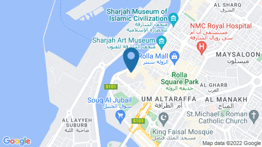 Sharjah Heritage Youth Hostel Map