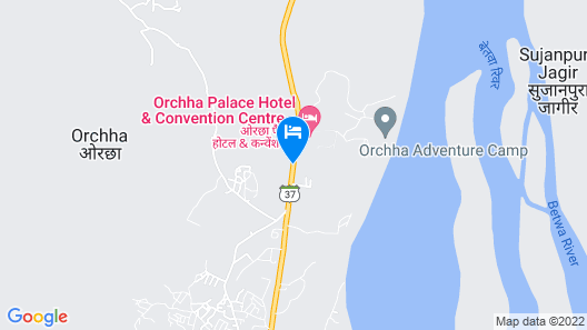 Orchha Palace and Convention Centre Map