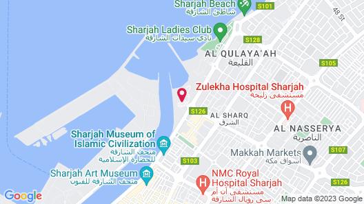 Radisson Blu Resort, Sharjah Map