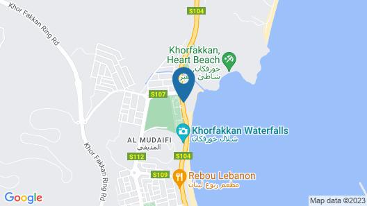 Oceanic Khorfakkan Resort And Spa Map