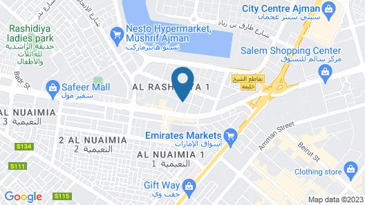 Crown Palace Hotel Ajman Map