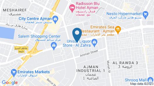 Ewan Ajman Suites Hotel Map