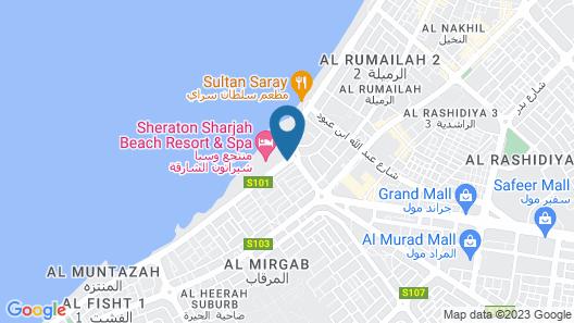 Coral Beach Resort - Sharjah Map