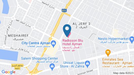 Radisson Blu Hotel, Ajman Map