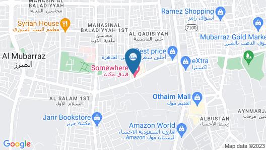 Somewhere Hotel Al Ahsa Map