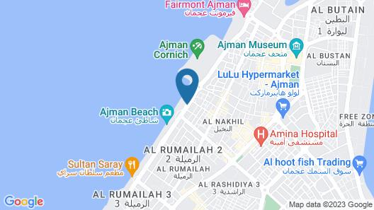 Ramada by Wyndham Beach Hotel Ajman Map