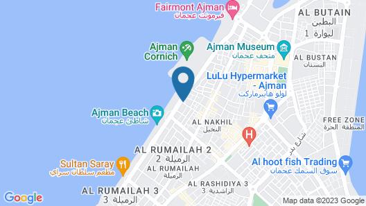 Wyndham Garden Ajman Corniche Map