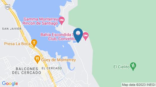 Bahía Escondida Map